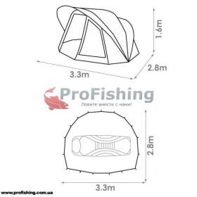 Карповая палатка для рыбалки Chub Super Cyfish Dome