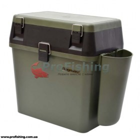 Зимний ящик для рыбалки Flagman 38см с карманом
