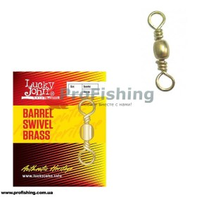 Вертлюг Lucky John Barrel Swivel Brass