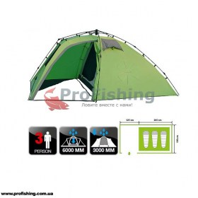 Палатка туристическая Norfin PELED 3 NF