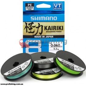 Плетеный шнур для спиннинговой ловли Shimano Kairiki PE SX8