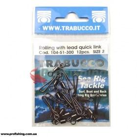 Вертлюг с защелкой Trabucco Rolling Swivel Lead Quick Link